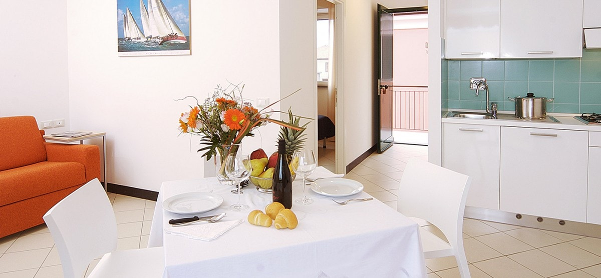 The holiday apartments of the Borgomare Aparthotel in Albenga